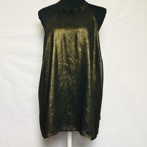 Women's Forever 21 Gold Black Choker Top Size 3X